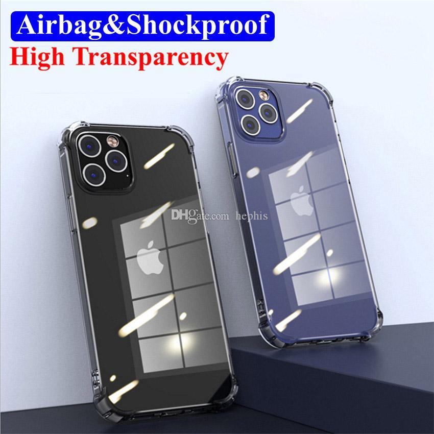1,0 mm Ultra sottile TPU Airbag Airbag Telefono trasparente Durable Mobile Case Copertura del telefono per Pro Max Mini XR XS Max Plus