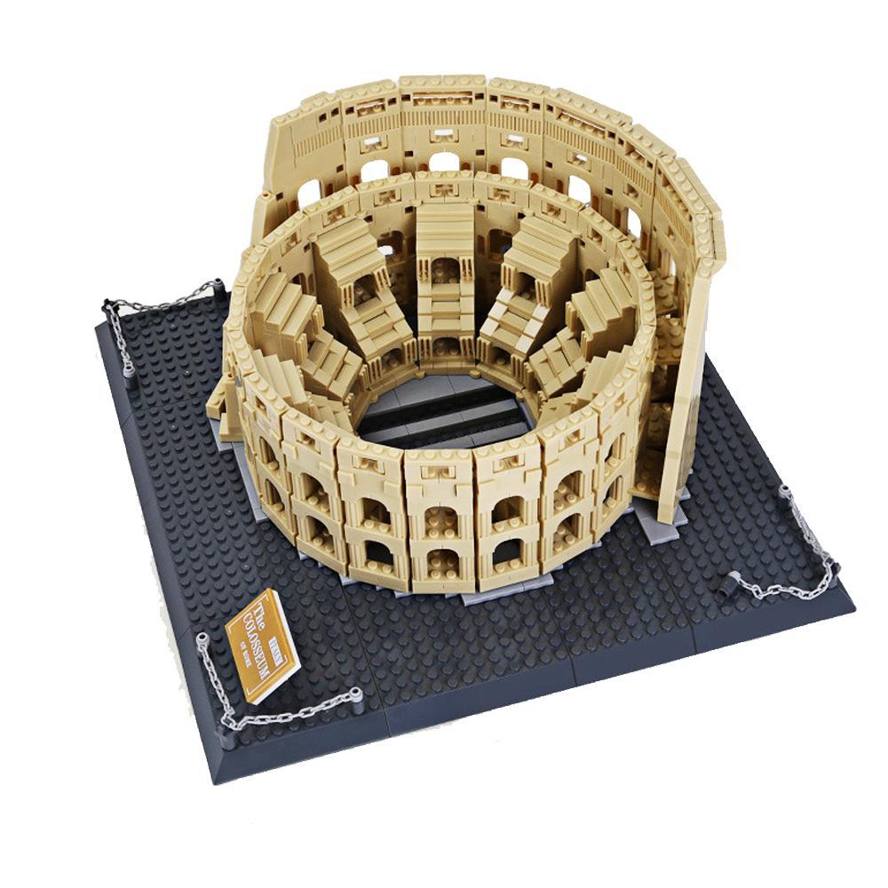 Wange 5225 Arquitectura Cidade Itália Roma Coliseu Blocos Conjuntos Bricks clássico da skyline da cidade Modelo Crianças brinquedos para crianças 1008