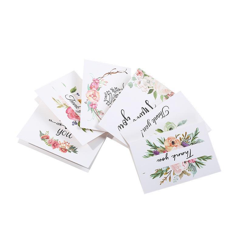 شكرا بطاقات المعايدة عيد الشكر يوم عيد الميلاد عيد الميلاد بطاقات المعايدة ورقة زهرة المطبوعة بطاقات المعايدة EWF1225