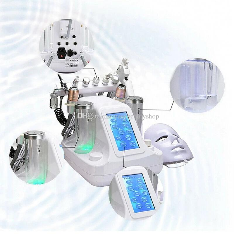 Spa viso Hydro Facia 11 in 1 Hydra dermoabrasione RF bio-lifting facciale Spa Ossigeno macchina del getto di acqua Hydro Diamond Peeling microdermoabrasione