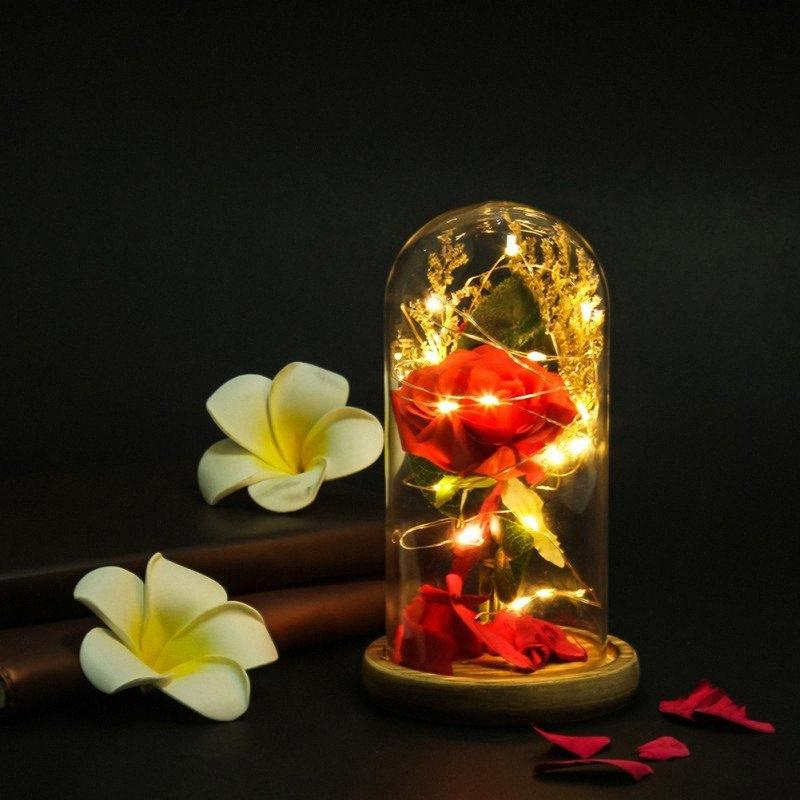 Weicher Plüsch-Teddybär Bouquet Seifen-Blumen-Rose Valentinstag Aniversary Geschenke Rosen-Blumen-Geschenk-Box 9zxm #