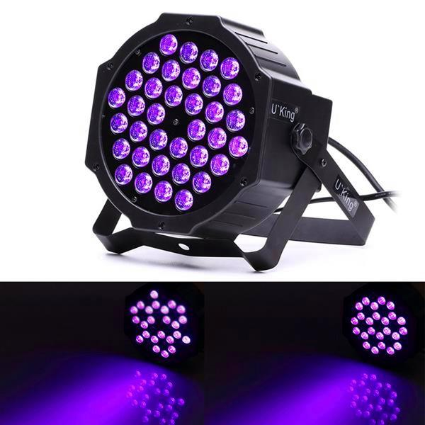 Migliore U'King 72W LED Purple Light DJ Disco Partito KTV Pub LED Effetto luce di alta qualità Materiale Led Stage Light Control Voice Control