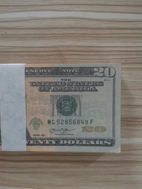 USD 20 adereços de venda quentes dinheiro de papel novo bar atmosfera papel adereços dinheiro jogando adereços bar dinheiro 012