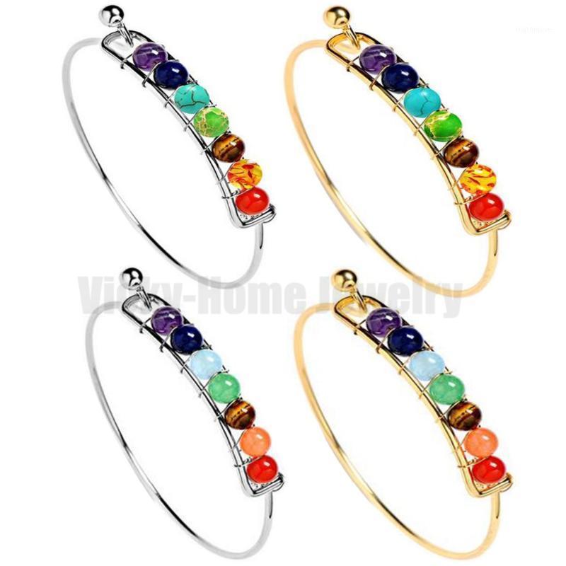 Bracelet chakra 6mm rond billes de billes bracelet acier inoxydable chakra bracelets livraison gratuite déposer livraison1