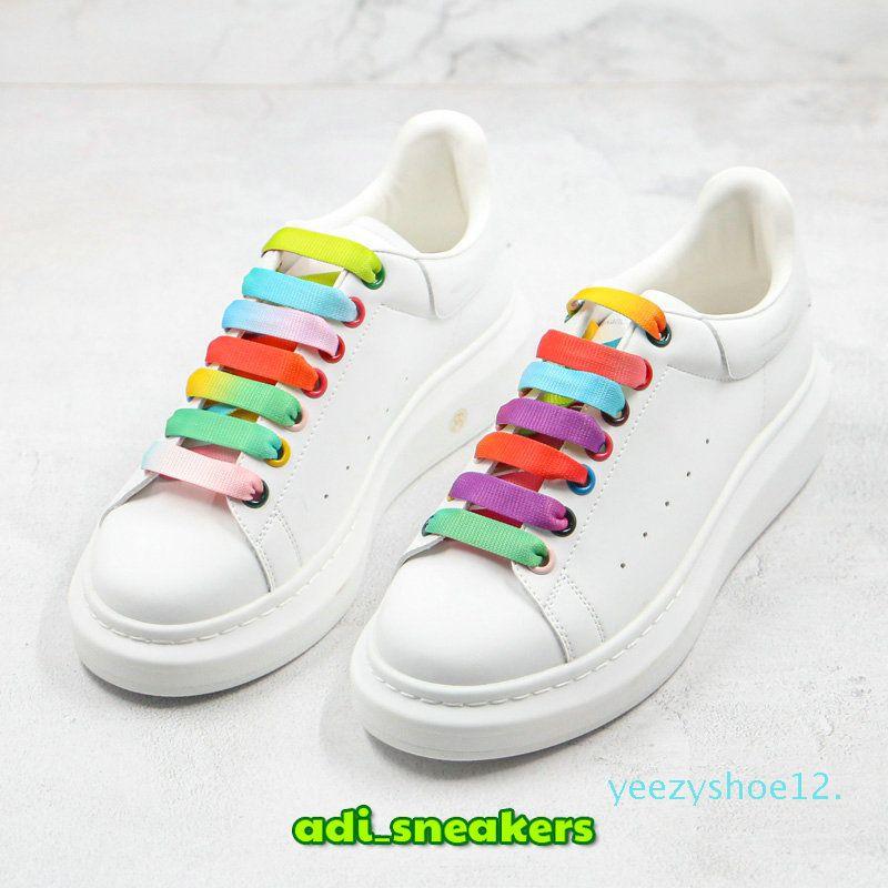 Различные стили Повседневная обувь женская Мужчины Кроссовки кожаные туфли на платформе Flat Chaussures Превосходное качество замша белый кожаный кроссовки y12