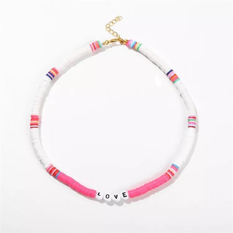 المختنقون الأزياء إلكتروني قصيرة قلادة متعدد الألوان نمط سيليكون مجوهرات قلادة الصيف البرية الرقبة الملحقات هدية للفتيات بوهيميا
