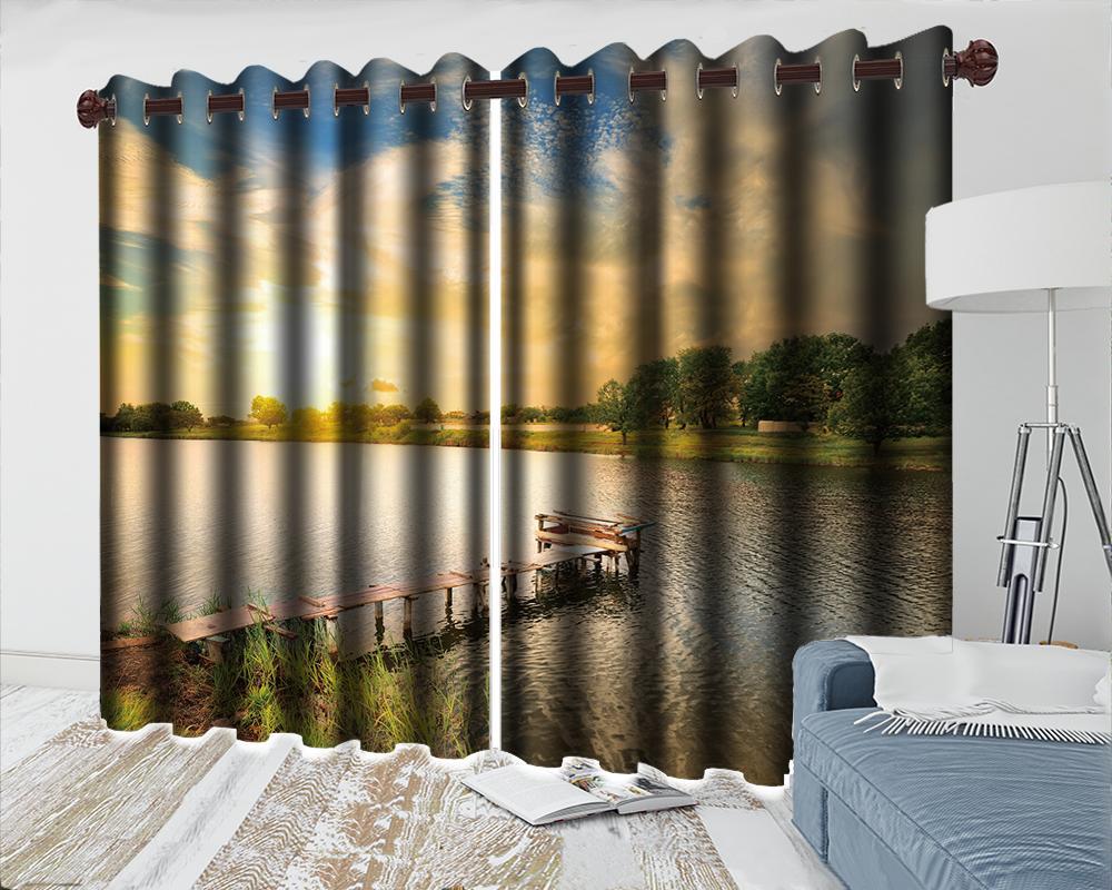 Роскошные 3d шторы Романтического Scenery занавес HD цифровая печать интерьер Практической 3d плотных шторы