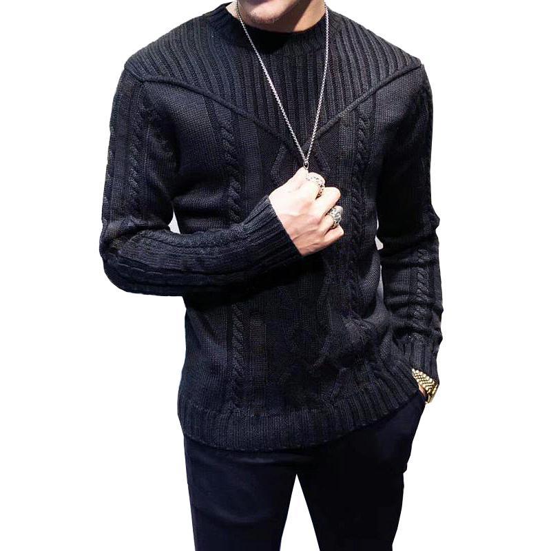 Automne hiver Hommes Pulls décontractés Tricoté Vêtements Sweaters de mode pour hommes Pull à manches longues