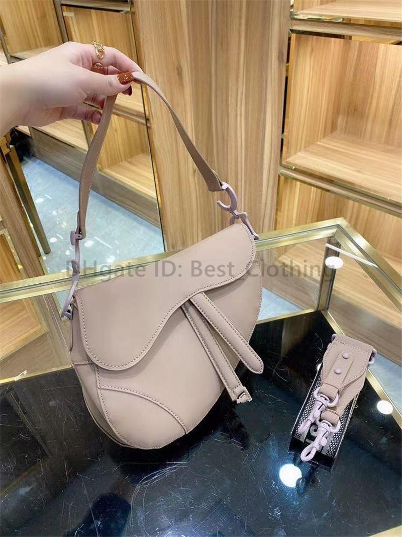 Classic 2020 Designer Designer Women Sella Borse Moda Simple Plain Letter Genuine Pelle Leather Metallic Opere Lady Cross Body Borse