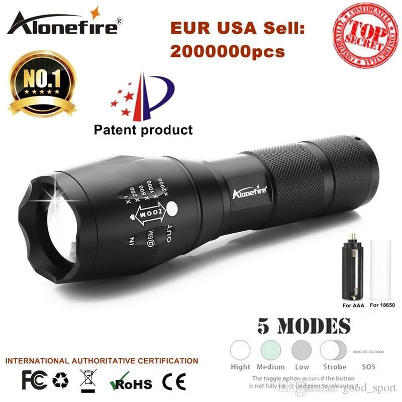 E17 XM -L T6 5000LM Aluminium Étanche Zoomable Cree LED lampe de poche LED pour la batterie rechargeable 18650 ou AAA Aurora5Y