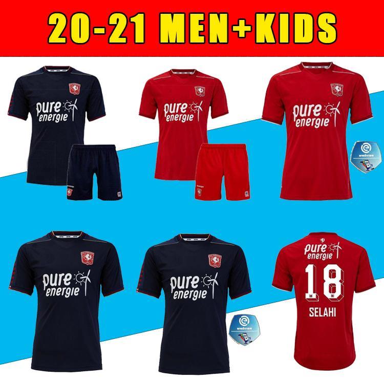 Homens 2020 2021 Twente Enschede FC Soccer Jerseys Kit 20 21 Maillot de pé Casa Away Menig Selahi Aburjania Roemeratoe Football Camisas
