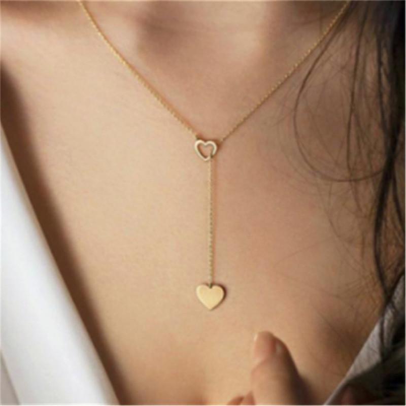 2020 Colar Coração Moda para Cadeia Mulheres curto Coração Pingente NecklaceBohemian Colar Gargantilha Holiday Beach Jewelry presente