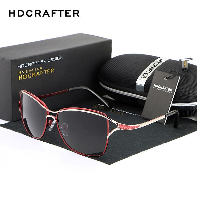 Sürücü De Cat Eye 1006 Gözlük Marka Tarzı Moda Güneş Gözlüğü ulculos Güneş Gözlükleri HDCrafter Kadınlar için Polarize Sol Kadın Tasarımcı LTLRS