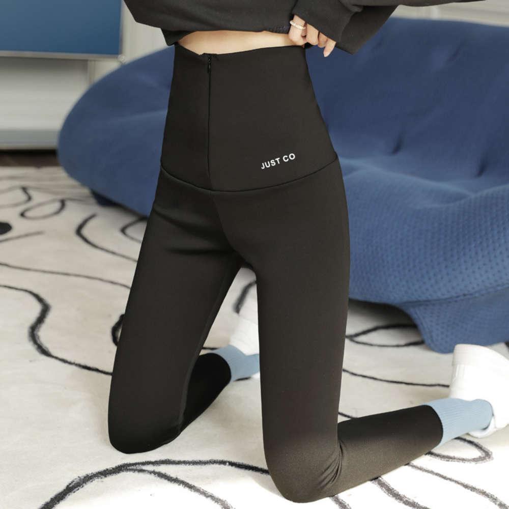 Barbie Barbie Zipper Yoga calças de tubarão leggings com cashmere e nádegas