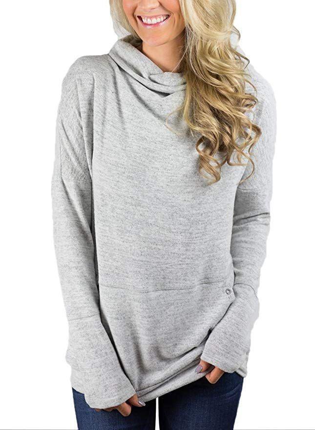Sweatshirts Harajuku Hoodie Streetwear Woman Clothes Fashion Casual Loose Long Sleeve Pullovers Pockets Scarf Collar