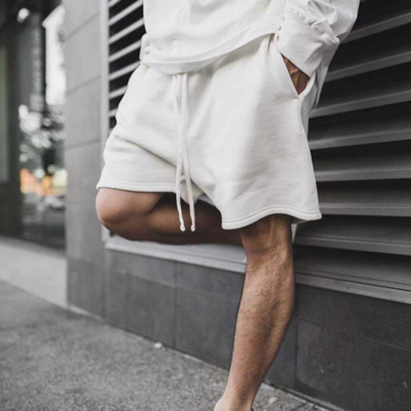 Mens Shorts Harlem Drawstring Impressão Elástica Cintura Ao Ar Livre Aptidão Esporte Casual Respirável Hip Hop Calças