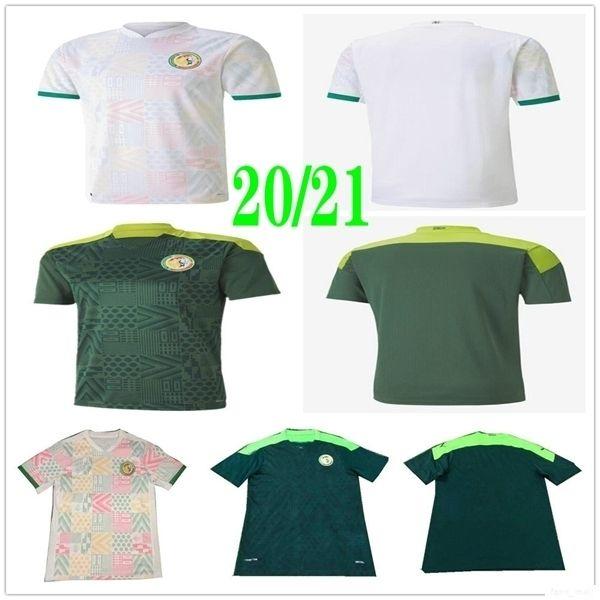 2020 Nuova Nazionale Senegal maglie calcio MANE Koulibaly GUEYE Kouyate CISS SARR personalizzato casa lontano 20 21 Calcio camicia uniforme
