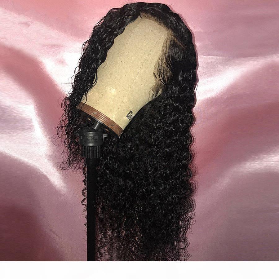 Parrucca Frontal 360 Lace Pre pizzico Con capelli del bambino 130% dell'onda profonda piena riccia Bob brasiliana merletto anteriore umano parrucche dei capelli