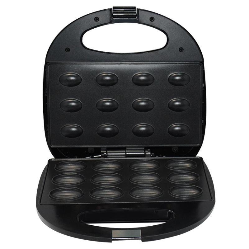Haushalts-elektrische Walnuss-Kuchen Maker Sandwich Frühstück Maschine Sandwich Bügeleisen Toaster Backen Frühstück Pan Ofen UK-Stecker