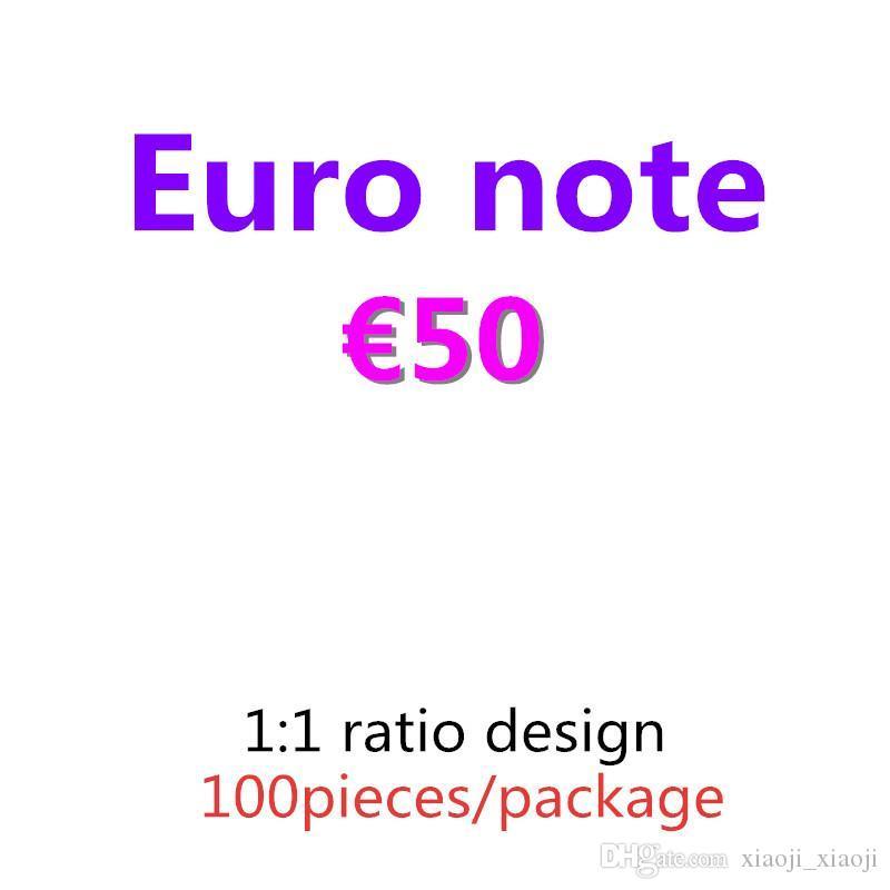 PROP BAR кино притворяется и лучшая банкнота евро копировать 50 денег 09 PROP MONEY 100PCS / упаковка бумаги IgGVD
