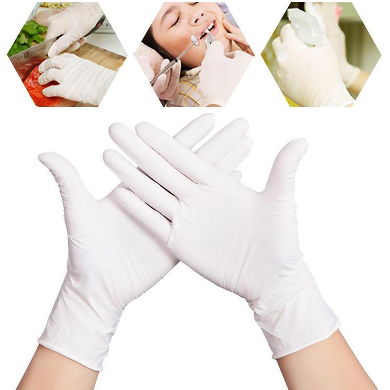 10pcs Tek Beyaz Nitril fonksiyonlu Ev Temizlik Yıkama Eldivenler Evrensel Oilproof Anti-statik Lateks Eldiven