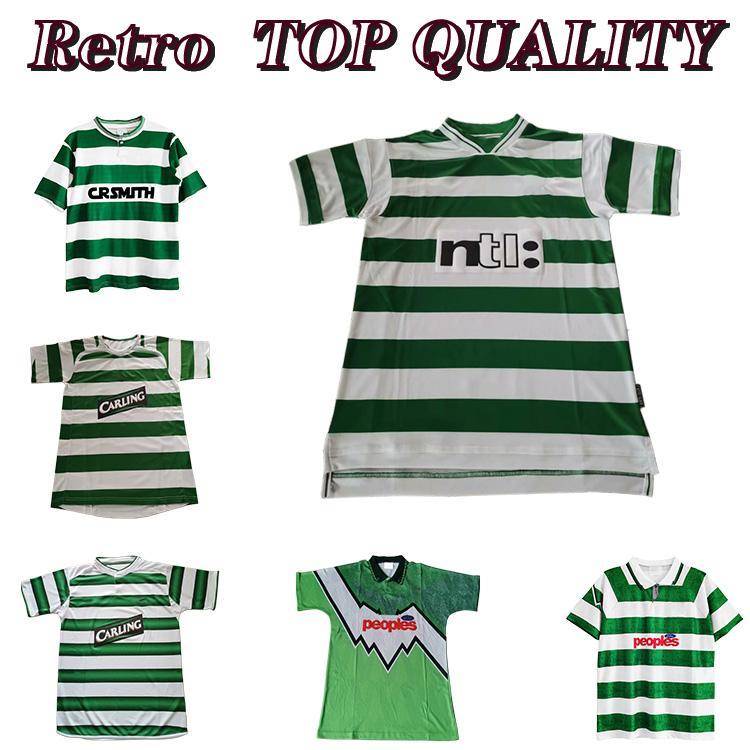 Celtic Retro 01 02 Jerseys de futebol Home 95 96 97 99 99 Camisas de futebol Larsson Sutton Nakamura Keane Black Sutton 05 06 89 91 92 84 85