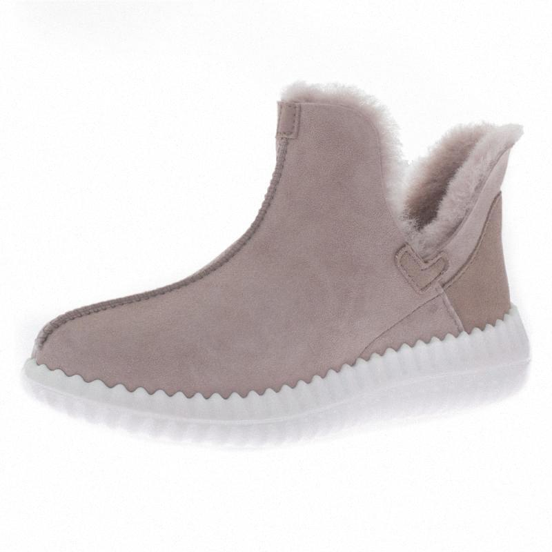 Womens Snow Boots, allineato pelliccia di inverno stivali caldi esterna impermeabile della caviglia di modo Bootie Flou #