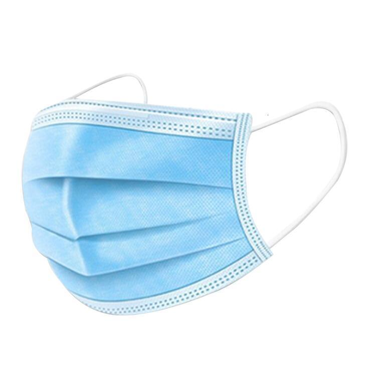 Elastic Loop 3 Ply Disposable Face Masks with Ear Loop 3 Ply Breathable for Blocking Dust Air Anti-Pollution Mask GreatVO2N