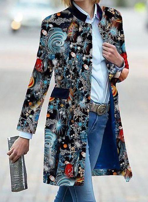 Uohh printemps stand col costume cardigan manteaux manches manches fantaisie femme femme extérieure vêtements pour femmes paillettes longues vestes décontractées