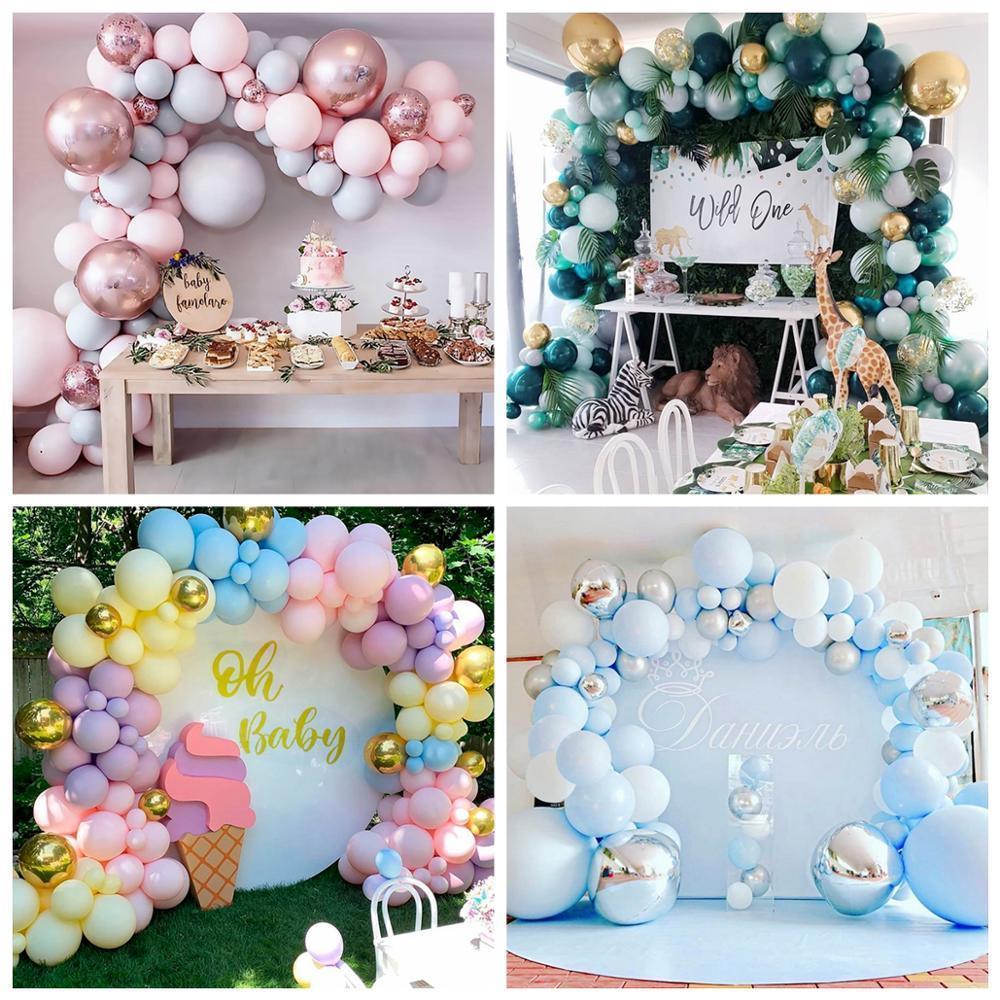 Qifu Macaron Ballon Garland Arch Kit Hochzeit Geburtstag Baloon alles Gute zum Geburtstag-Party-Dekor-Kind-erwachsenes Baby-Dusche Ballons Globos 1027