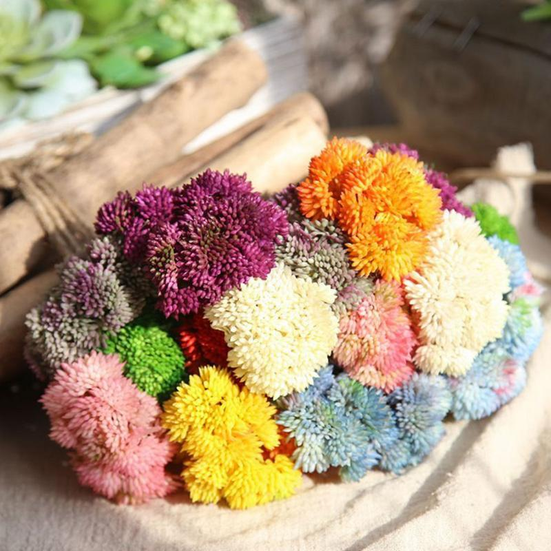 Декоративные Цветы Венки Plantas Искусство Para Delecion Искусственный DIY Baby Hand Flaby Gypsophila Поддельные сочные растения