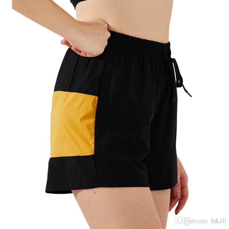 Yoga Shorts Femmes Polyester Fitneß culotte courte maille extensible à séchage rapide Shorts Activewear pour Home Gym Courir Yoga Workout # Y2