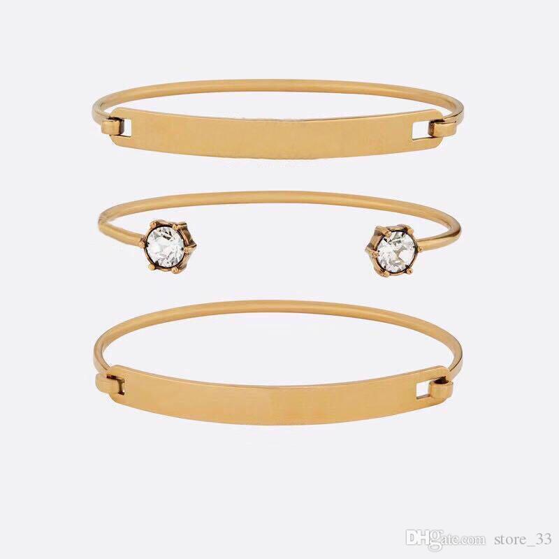 أزياء العلامة التجارية لديها طوابع تشيكوسلوفاكيا مصمم أساور النساء عشاق الزفاف هدية الخطوبة المجوهرات الفاخرة مع مربع HB520