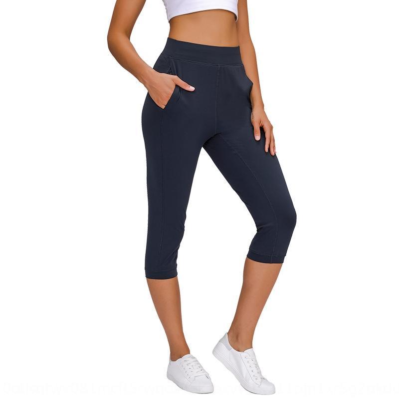 yoga pantolonları bel kalça kaldırma hava geçirgenliği elastik ve ince uygun Capris aşınma kadınlar Hg için 2020 yüksek MCHgw Yoga yeni pantolon cebi eğlence spor