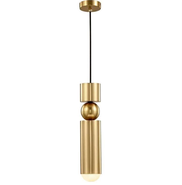 Kitchen Pendant Light Bedside Gold Black Silver Tube Hanging Lamp Bar Counter Kitchen Island Suspension Lighting cloth shop pendant Fixtures
