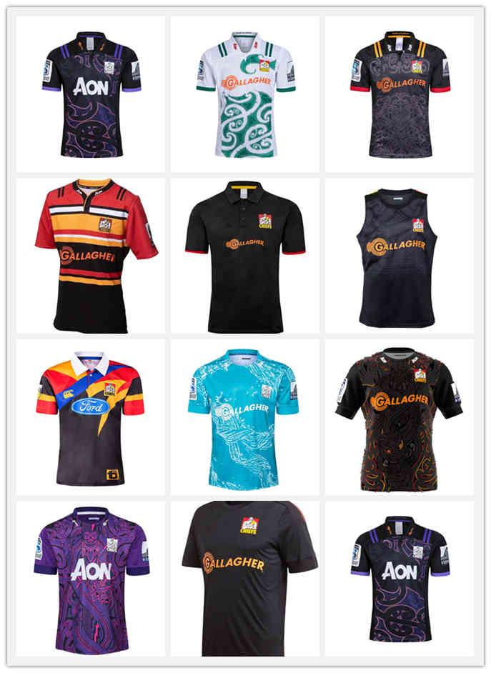 2020 Chefe Super Rugby Jerseys Home Lay Camisa 19 20 21 Rugby Jersey Zealand Chief Tee Tee Singlet Rugby Shirts Mens S-XXXL