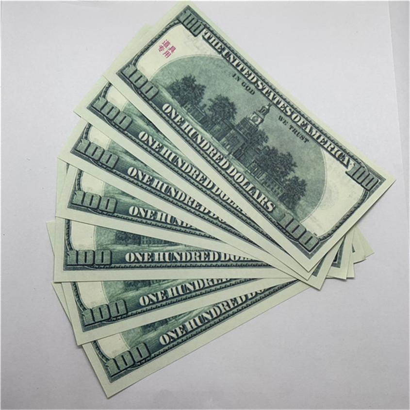 O47 Piezas infantiles / Paquete Falsifit Party Toys Moneda EE. UU. Props Billetes Juego Juego de dólares rápidos Entrega 100 Vsbue