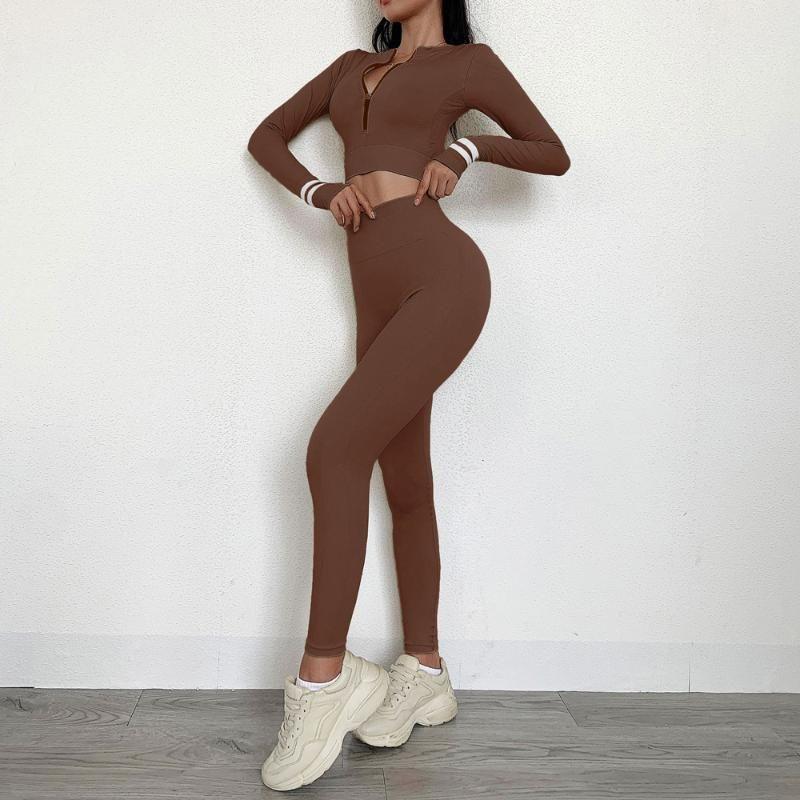 Conjuntos de trajes de yoga Mujeres Gym Ropa Leggings Sujetador y pantalones Cintura alta de 2 piezas Entrenamiento de ejercicios Traje deportivo Conjunto de fitness inconsútil
