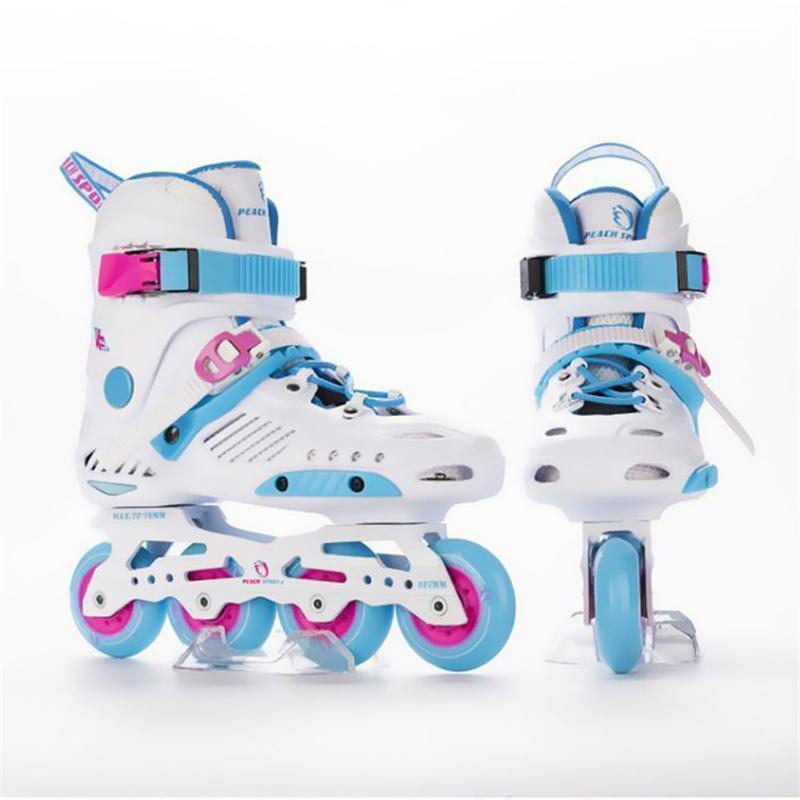 JK Slalom patins à roues alignées RTG Adulte Enfant Chaussures de patinage à roulettes coulissantes patinage libre Patines Brake Road Street FSK
