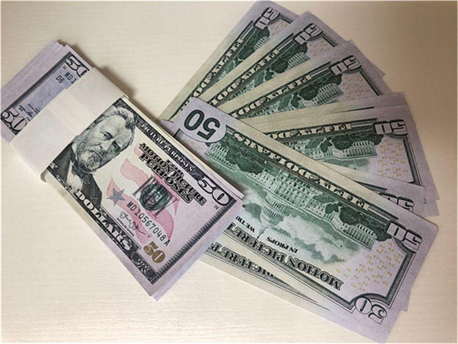 Venta caliente transfronteriza Nuevo y más realista Props Money 50DOLAR Props Juguetes para niños Juguetes para adultos Precios Precio especial Película juego Monedas 04
