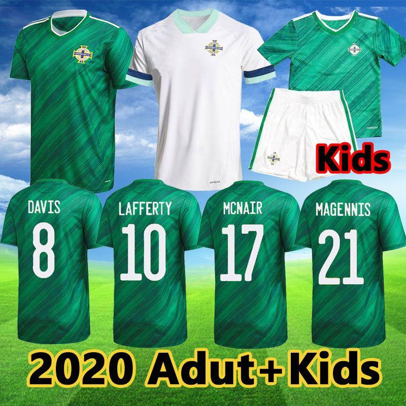 2020 Irlanda do Norte de Futebol Jerseys Lafferty Evans Camisa de Futebol Davis McNair Magennis Green Branco Adulto Kit Kit Branco 20 21 Uniforme