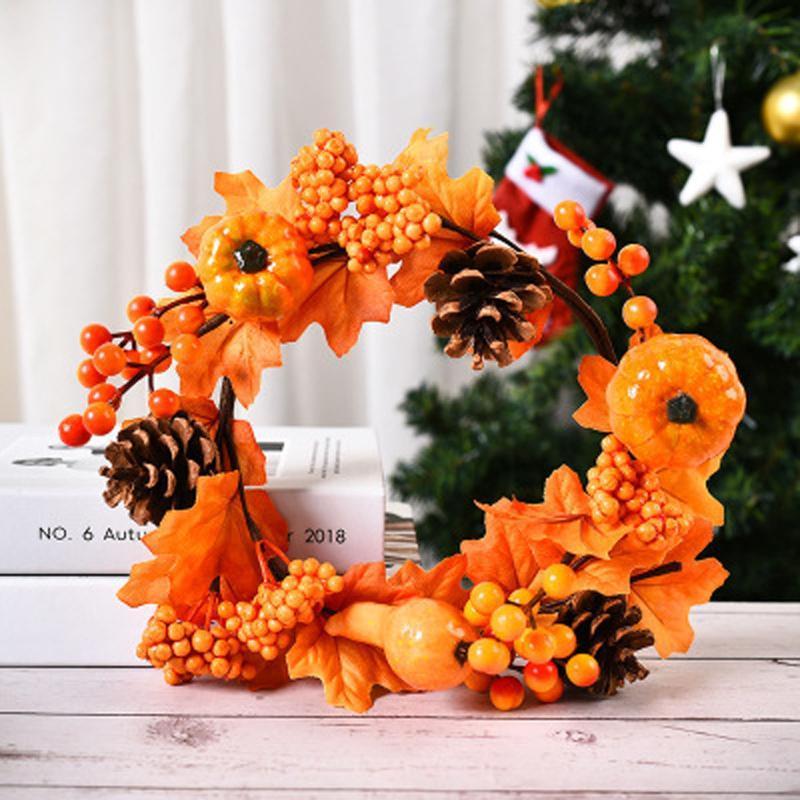 Autunno Berry artificiale Garland Front Door Wreath Natale Home Decor Ghirlande di Natale di Halloween decorazioni per albero