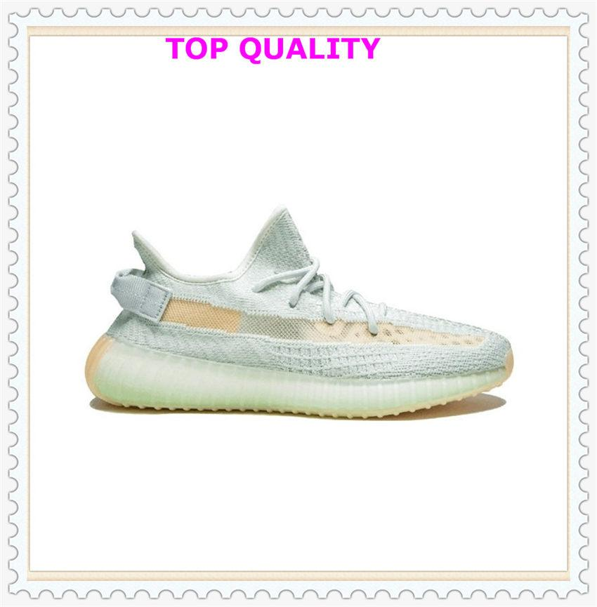 Mens Womens Sports Shoes 2021 Kanye West Running Shoes FASHION WHOLESALE Light Reflective Casual Sport Sneakers Yellow Shoe Size 36-48 man