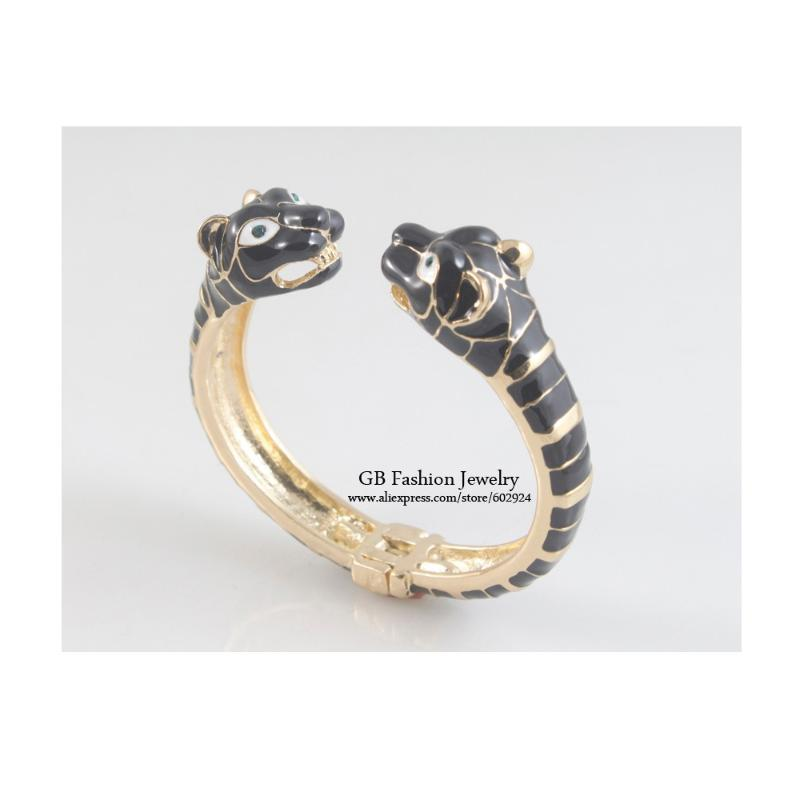 GrayBirds Trendy Party Jewelry Rhodium Plated Animal Leopard Bangles For Woman Enamel More Colors In The Stock GB1069