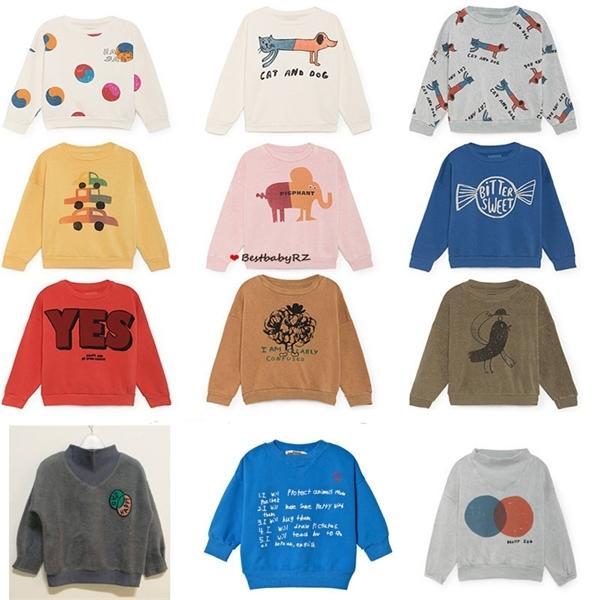 Çocuklar Kazak 2019 Sonbahar Kış Erkek Kız Kazak Bebek Hayvan Karikatür Uzun Kollu Üst Tee T Gömlek Çocuk Giysileri 1006