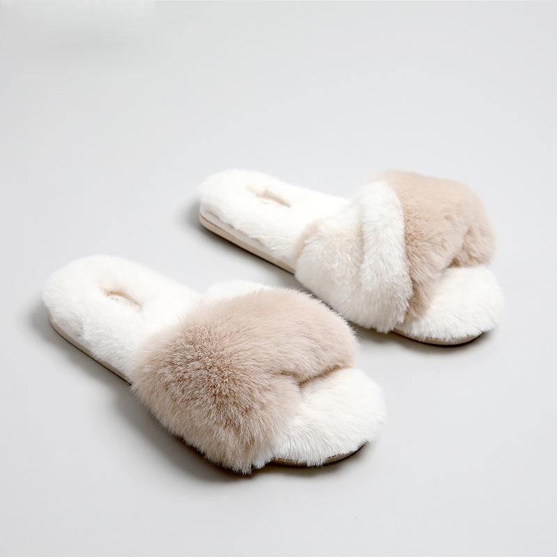 슬리퍼 일본어 가정 신발 여성 부드러운 봉제 따뜻한 엿보기 발가락 시즌 플립 플롭 고무 침실 미끄럼 방지