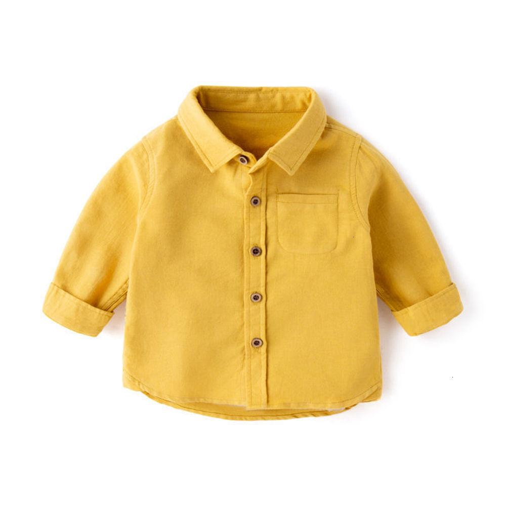and Long Sve spring Boys' Cotton autumn clothing children's white Shirt 1-year-old 3-inch baby