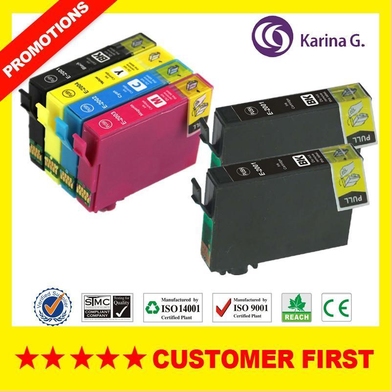 T200XL compatível para o cartucho de tinta T2001 T2001 - T2004 para XP-100 XP-200 XP-300 XP-310 XP-314 XP-400 XP-410 WF-2510 etc.