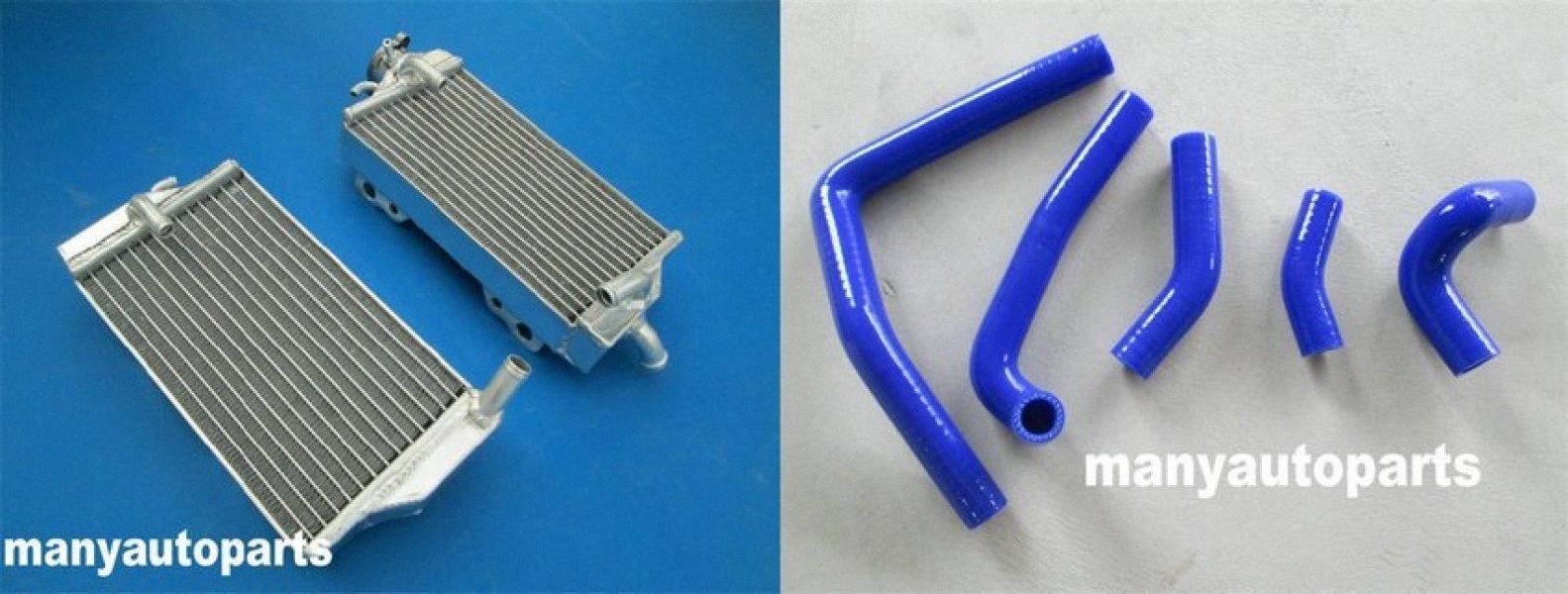 Aluminiumheizkörper blau Schlauch für CR250R CR 250 2005-2007 2006 05 06 07 y37w #