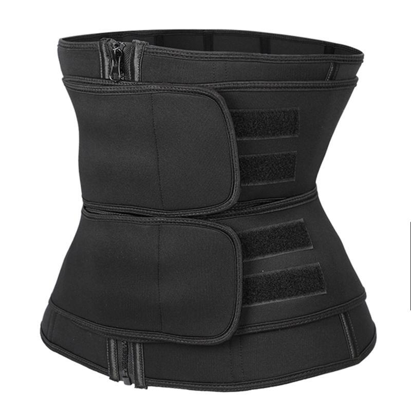 Waist trainer Corset Slimming Belt Sauna Sweat Faja tummy Shaper body binders shaper girdle Trimmer Straps Modeling Shapewear 201222